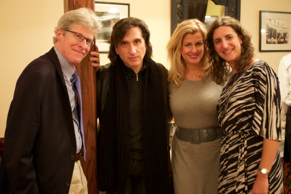 CEO of Rodgers & Hammerstein, Ted Chapin; star of Hershey Felder as Irving Berlin, Hershey Felder; President of Heron Agency, Noreen Heron; and Co-Producer, Eva Price at the Opening Night party for Hershey Felder as Irving Berlin
