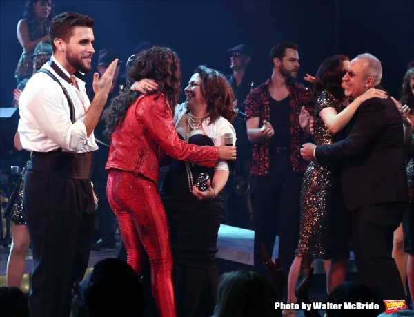 Josh Segarra, Ana Villafane, Gloria Estefan, Emilio Estefan and cast