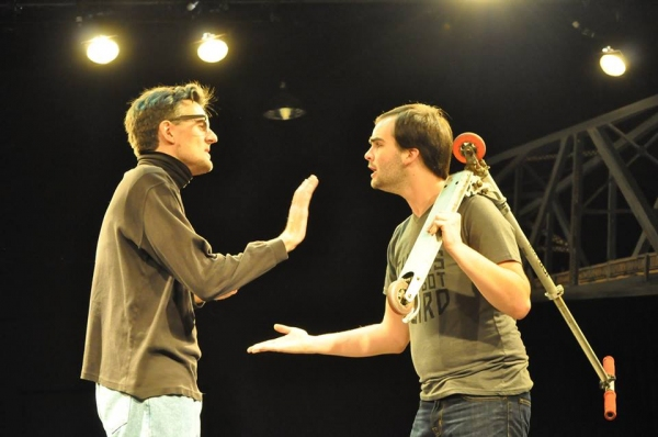 BEN STAHL (Antipholus) and FRANK ROBERTS (Dromio) Photo