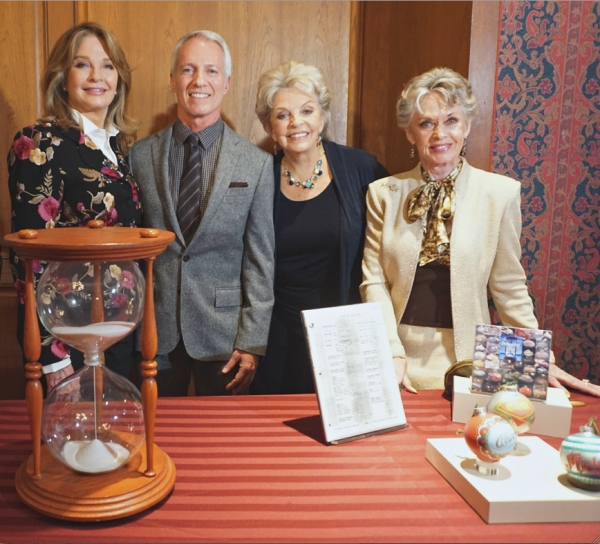 Diedre Hall, Greg Meng, Susan Seaforth-Hayes and ceremony host Tippi Hedren with Items deom the show