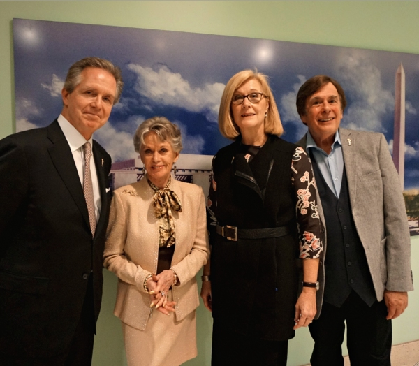 NATAS reps Les Heintz, Tippi Hedren (Hostess), Barbara Williams Perry and David Michaels