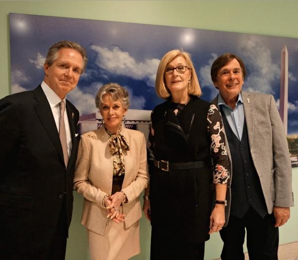 NATAS reps Les Heintz, Tippi Hedren (Hostess), Barbara Williams Perry and David Michaels