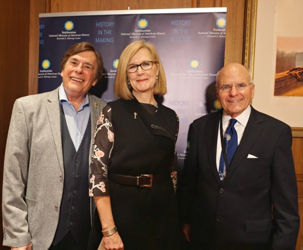 David Michaels (NATAS Sr VP Daytime EMMYS) and Barbara Williams Perry (Sr Vice Chair) with Smithsonian Exec , John Gay