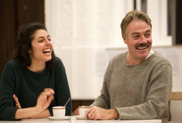 Shanaya Rafaat (Mrs Aouda) and Robert Portal (Phileas Fogg)