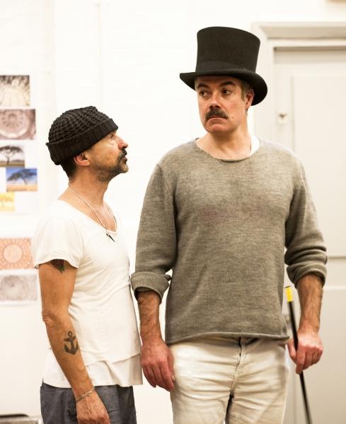 Simon Gregor (Passepartout) and Robert Portal (Phileas Fogg)