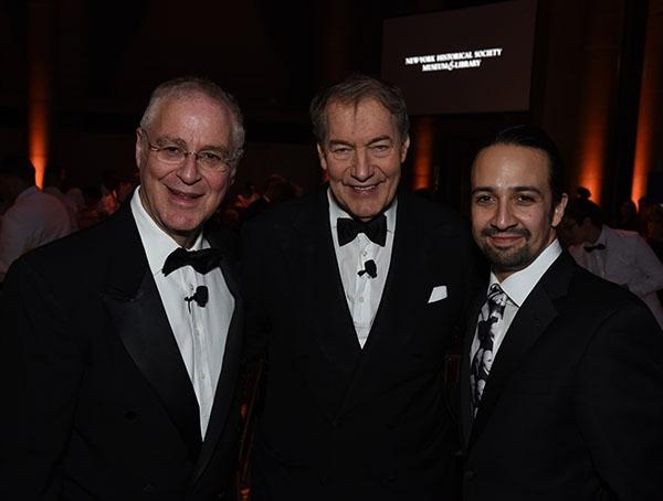 Ron Chernow, Charlie Rose, and Lin-Manuel Miranda