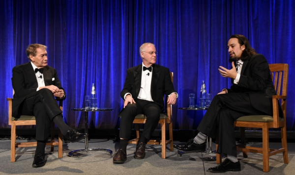 Charlie Rose, Ron Chernow, and Lin-Manuel Miranda