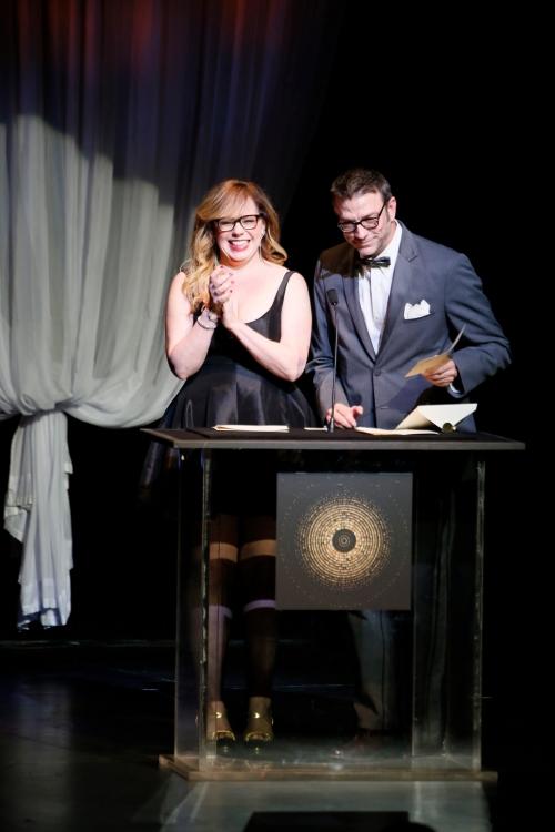 Presenters Kirsten Vangsness and Keith Allan Hi-Res Photo - Photo