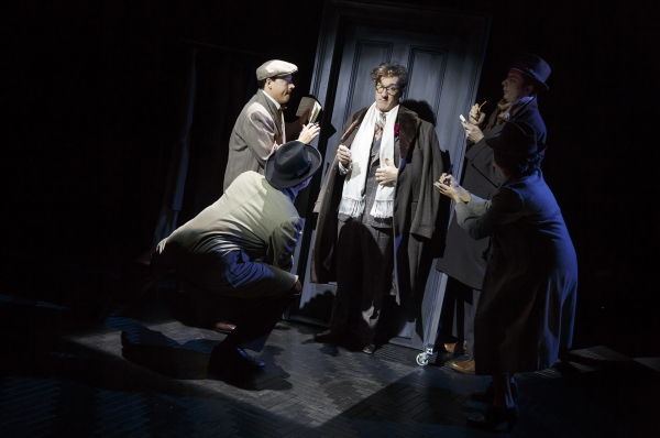 Carson Elrod (center) and the cast of IMPORTANT HATS OF THE TWENTIETH CENTURY