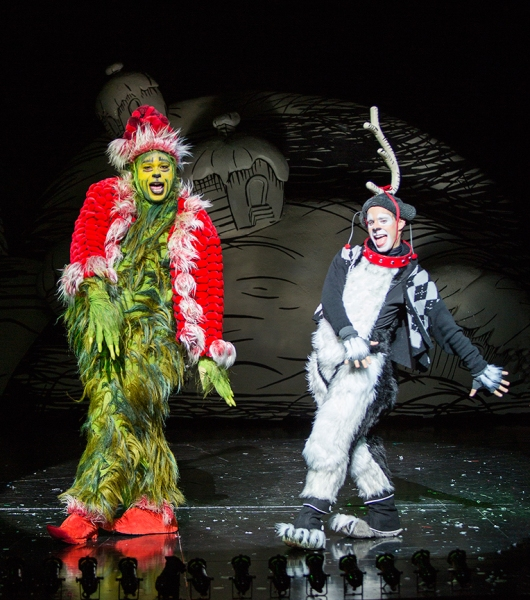 J. Bernard Calloway appears as The Grinch and Blake Segal as Young Max Photo