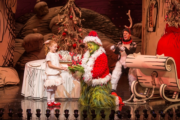 Taylor Coleman appears as Cindy-Lou Who, J. Bernard Calloway as The Grinch, and Blake Segal as Young Max