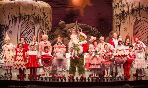The cast of the 18th annual production of DR. SEUSS'' HOW THE GRINCH STOLE CHRISTMAS at The Old Globe