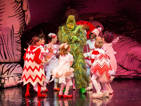J. Bernard Calloway as The Grinch with the cast of ''THE GRINCH''