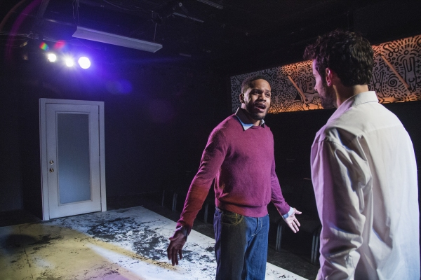 Brian Keys and Nik Kourtis in First Floor Theater''s Animals Commit Suicide, written by J. Julian Christopher, and directed by Hutch Pimentel.