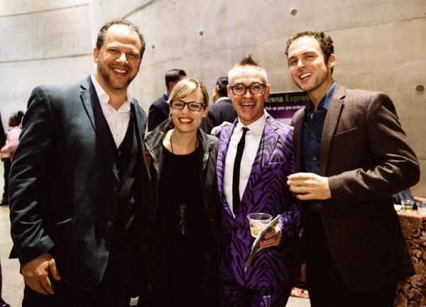 Local theater artists Aaron Posner, Erin Weaver, Matt Conner and Matthew Greenfield Photo