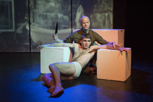 Mark Rinze as Arvin Meissner (back) and Ross McCorkell as Berndt Brockhaus Photo
