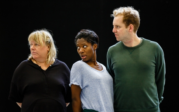 Heather Williams (ensemble), Kezrena James (Deylan) and David Emmings (Prince Percy)