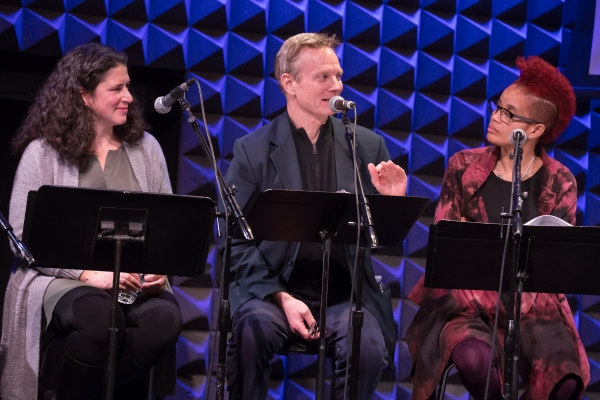 Rebecca Traister, Bill Irwin, and Staceyann Chin Photo