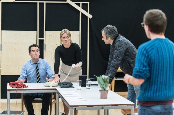 Tim McMullan (Blair), Lisa Dillon (Hapgood), Gerald Kyd (Ridley) and Nick Blakeley (Maggs)