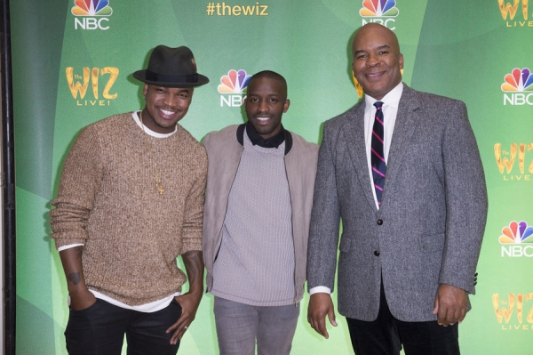 THE WIZ LIVE!  -- Press Junket -- (l-r) Ne-Yo, Elijah Kelley, David Alan Grier -- (Photo by: Virginia Sherwood/NBC)
