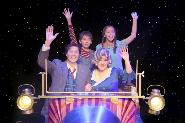 (clockwise from upper left) Nicholas Wharff as Jeremy Potts, Natalie Grote as Jemima  Photo
