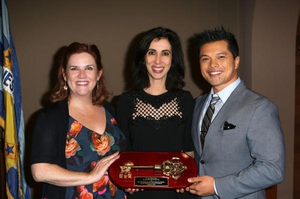 Donna Lynne Champlin, Aline Brosh McKenna, and Vincent Rodriguez II