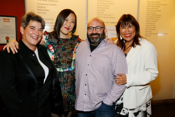 Kristy Edmunds, Executive and Artistic  for Center for the Art of Performance at UCLA, playwright/ Young Jean Lee, producer Aaron Rosenblum and CTG Associate Artistic  Diane Rodriguez
