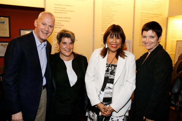 David Gindler and Kristy Edmunds, Executive and Artistic  for Center for the Art of Performance at UCLA, CTG Associate Artistic  Diane Rodriguez and CTG Board President Kiki Ramos Gindler