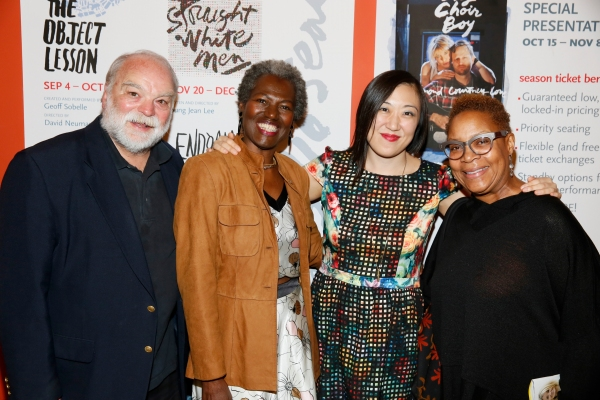 Richard Riehle, Elise Woodson, playwright/ Young Jean Lee and actress Juanita Jenning Photo