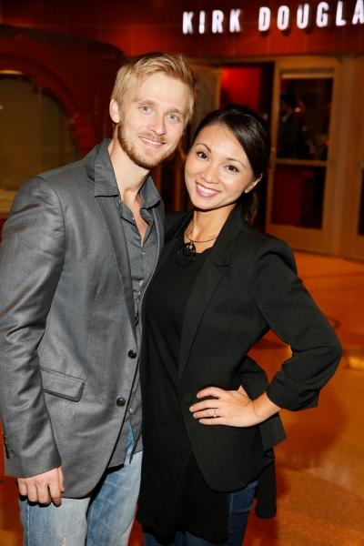 Singer Anthony Fedorov and actress Jennifer Paz Photo