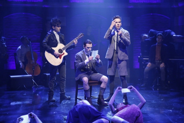 LATE NIGHT WITH SETH MEYERS -- Episode 293 -- Pictured: Cast of Spring Awakening perform on November 18, 2015 -- (Photo by: Lloyd Bishop/NBC)