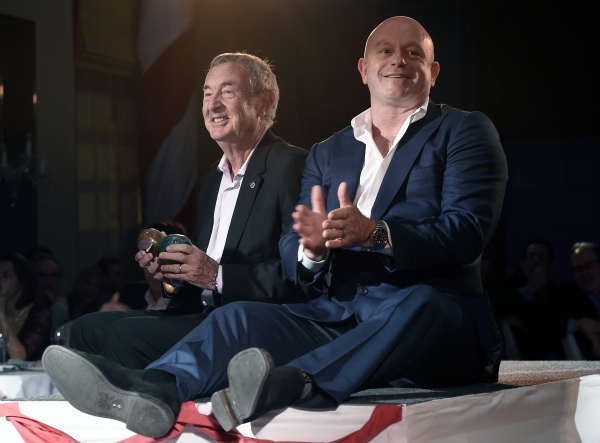 Drummer of Pink Floyd Nick Mason and actor Ross Kemp