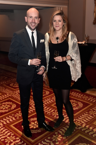 Comedian Tom Allen and actress Olivia Poulet Photo
