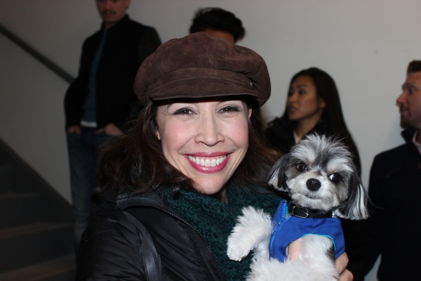 Photo Flash: ON YOUR FEET! Gets a Visit from Tinkerbelle the Dog