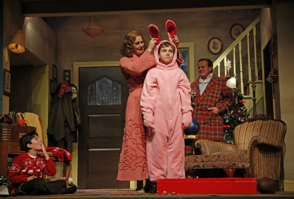 (from left) Theo Moss plays Randy, Danni Smith plays the mother, Michael Harp is Ralp Photo