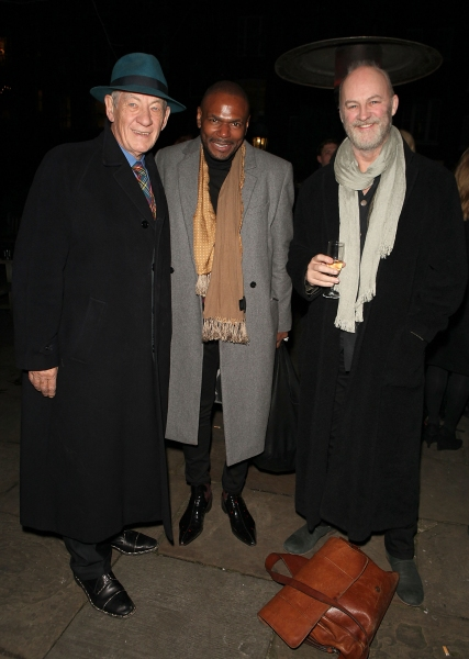 LONDON, ENGLAND - NOVEMBER 25: (L-R) Ian McKellen, Anton Stepmans and Tim McInnerny a Photo