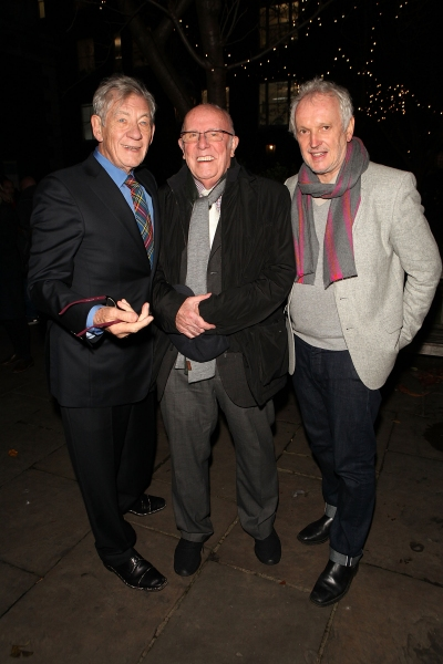 LONDON, ENGLAND - NOVEMBER 25:  (L-R) Ian McKellen, Richard Wilson and Sean Matthias attend ''A Source of Life: 25 Years of the Ian Charleson Day Centre'', a special presentation to commemorate the 25th anniversary of the Royal Free Hospital''s Ian Charle