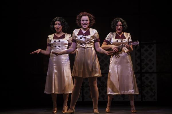 Ruby Rakos (center) stars as Judy Garland