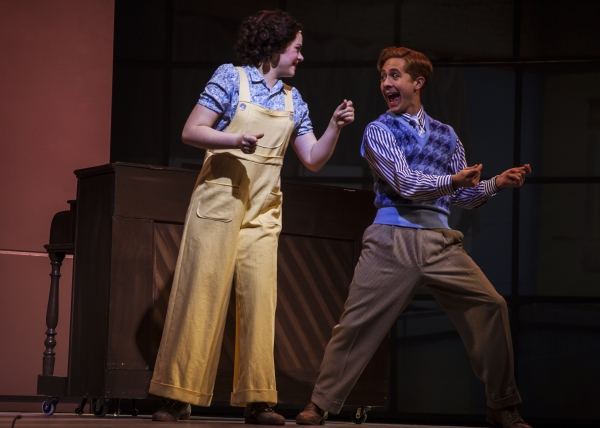 Ruby Rakos as Judy Garland and Michael Wartella as Mickey Rooney