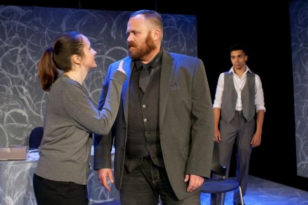 Nikki Smith as Kathy, John Kuhn as Derek and Taylor Martin Moss as Bryan