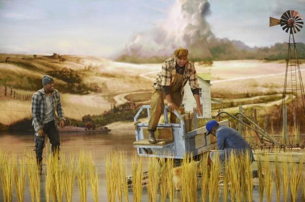 THE WIZ LIVE! -- (l-r) Ne-Yo as Tin-Man, David Alan Grier as Lion, Elijah Kelley as Scarecrow -- (Photo by: Virginia Sherwood/NBC)