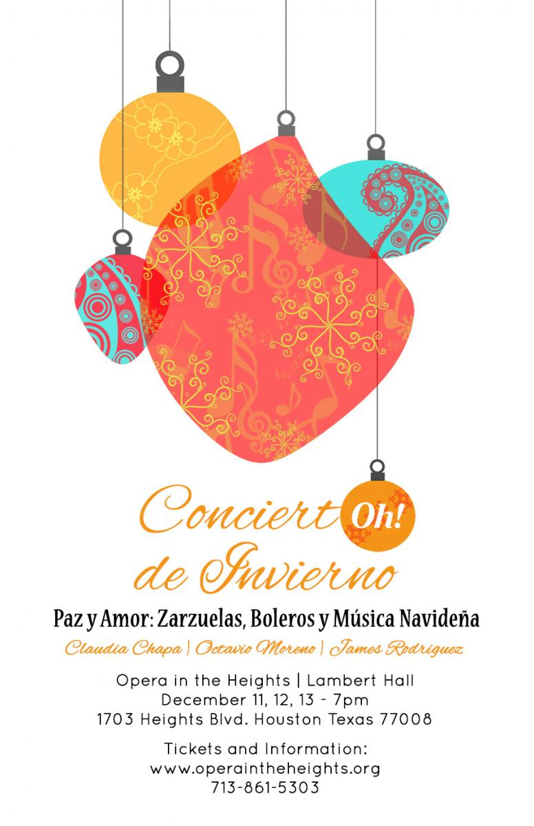 BWW Blog: Baritone James Rodriguez on Opera in the Heights' CONCIERTOH! DE INVIERNO
