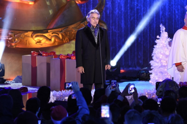 CHRISTMAS IN ROCKEFELLER CENTER -- Pictured: Andrea Bocelli -- (Photo by: Peter Kramer/NBC)