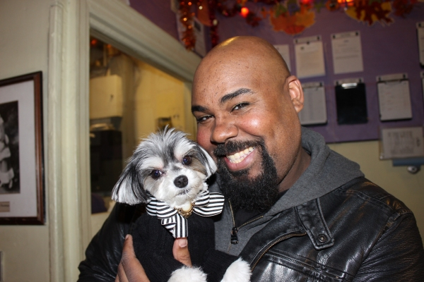 Photo Flash: ALADDIN Cast Members Get Special Visit From Tinkerbelle the Dog