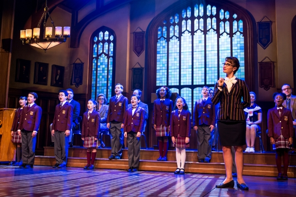 Sierra Boggess and the kids ensemble of School of Rock - The Musical