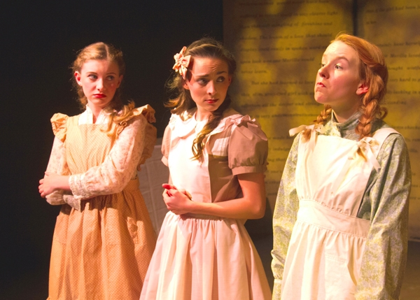 Maddie Bourgeois, Emma Nossal and Angela Griswold as Prissy, Josie and Anne