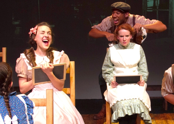 Emma Nossal, Xavier J. Watson and Angela Griswold as Josie, Gilbert and Anne Photo