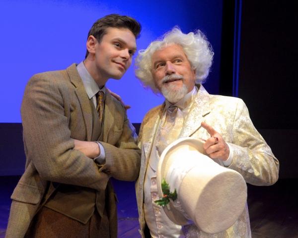 Justin Scott Brown (as Tim) George Lee Andrews (as Scrooge) Photo