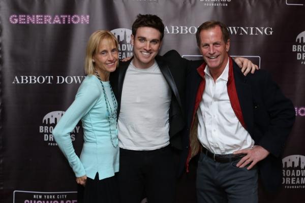 Tyler Hanes with BDF Board President Vicki Levine and Chris LEvine