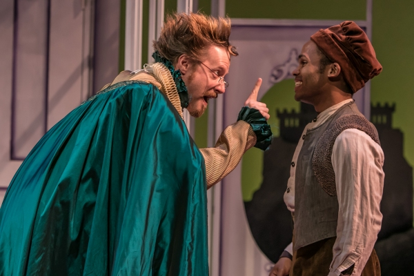 Doctor Caius (Jon Barker) conspires with John Rugby (Felix Mayes)